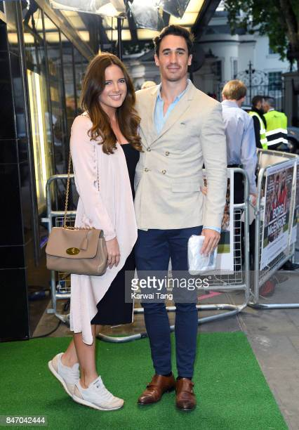 Binky Felstead and Josh Paterson attend the UK premiere of 'Borg vs McEnroe' at the Curzon Mayfair on September 14 2017 in London England