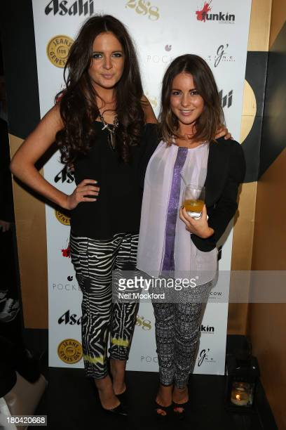 Binky Felstead and Louise Thompson attend the Pocket London a/w 2013 Launch Event at Morton's Club on September 12 2013 in London England