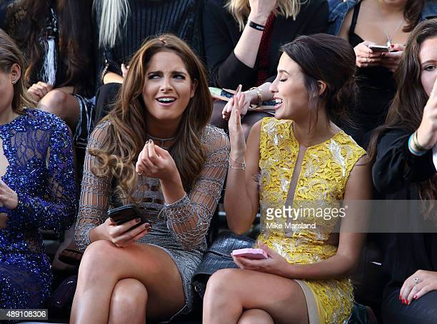 Binky Felstead and Lucy Watson attend the Julien Macdonald show during London Fashion Week Spring/Summer 2016/17 on September 19 2015 in London...