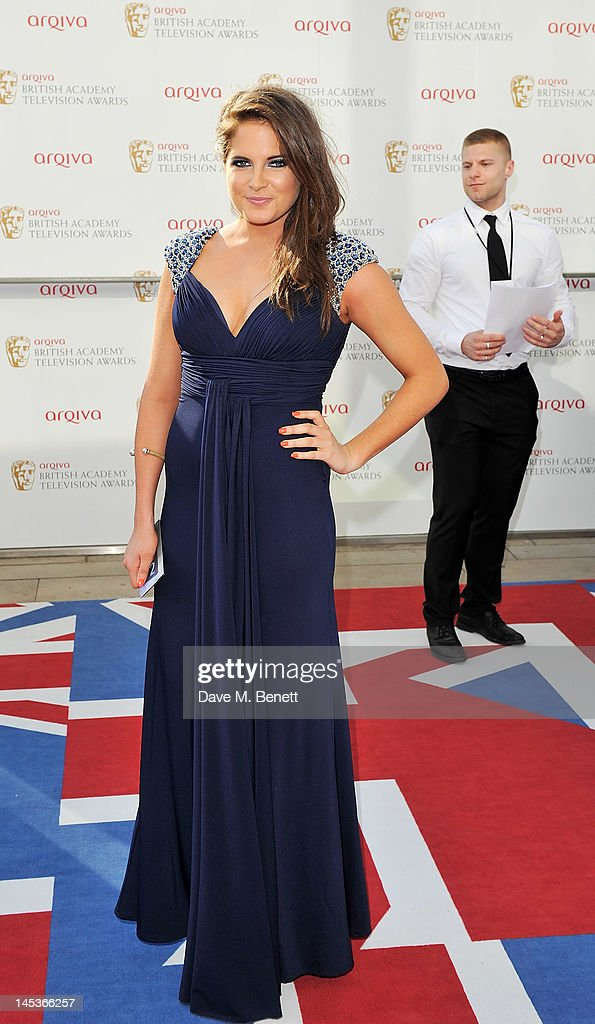 Binky Felstead arrives at the Arqiva British Academy Television Awards 2012 at Royal Festival Hall on May 27, 2012 in London, England.