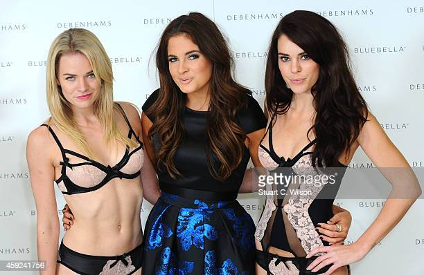 Binky Felstead attends a photocall to launch Bluebella lingerie at Debenhams on November 19 2014 in London England