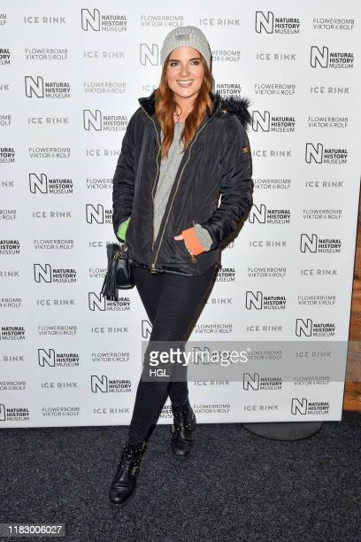 Binky Felstead attends as London museum launches winter ice rink at Natural History Museum on October 23 2019 in London England