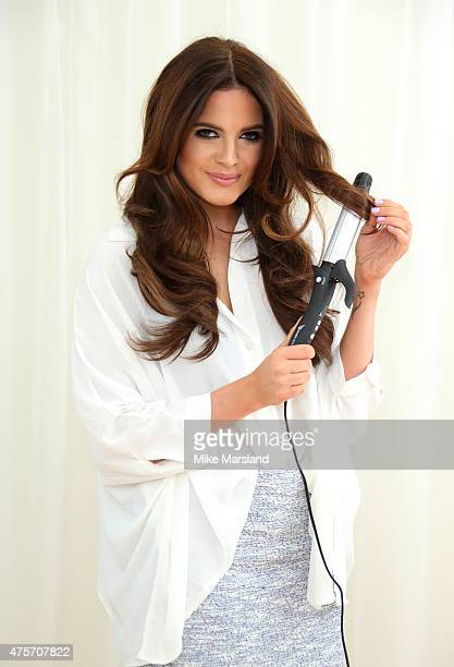 Binky Felstead attends photocall to announce her as the Face Of Easilocks at Sanderson Hotel on June 3 2015 in London England