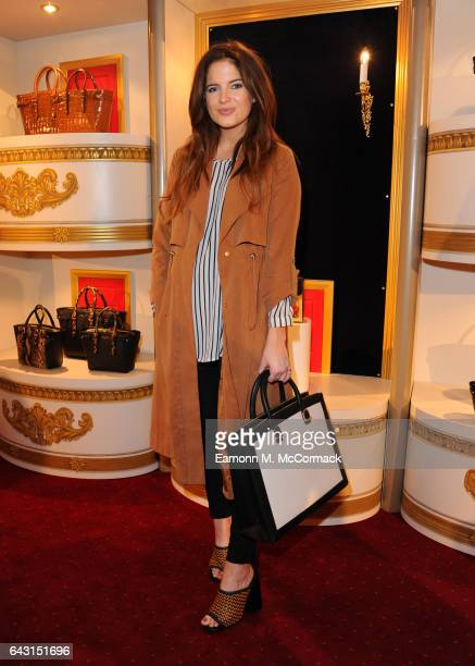 Binky Felstead attends the Aspinal of London Presentation during the London Fashion Week February 2017 collections on February 20 2017 in London...