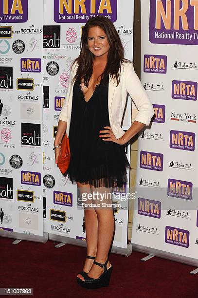 Binky Felstead attends the National Reality TV Awards at Porchester Hall on August 30 2012 in London England