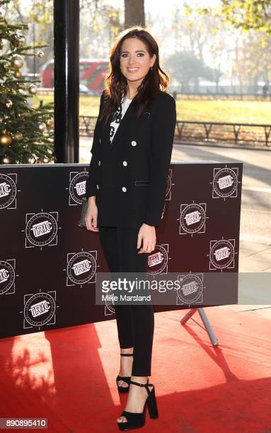 Binky Felstead attends the TRIC Awards Christmas lunch at Grosvenor House on December 12 2017 in London England