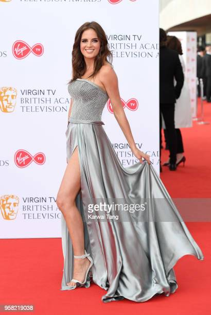 Binky Felstead attends the Virgin TV British Academy Television Awards at The Royal Festival Hall on May 13 2018 in London England