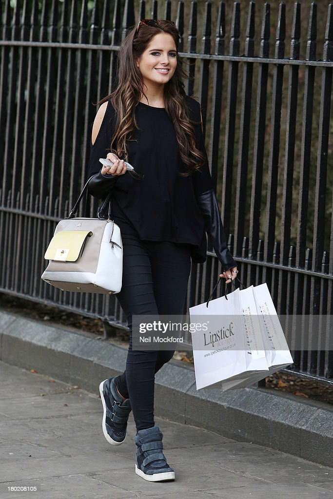 Binky Felstead previews debut collection with Lipstick Boutique on September 10, 2013 in London, England.