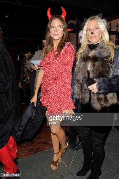 Binky Felstead seen arriving at Hallowzeem Party in Shoreditch on October 26 2018 in London England