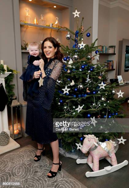 Binky Felstead wishes on a star for her baby India to launch Aptaclub's Christmas Wishes campaign on December 12 2017 in London England