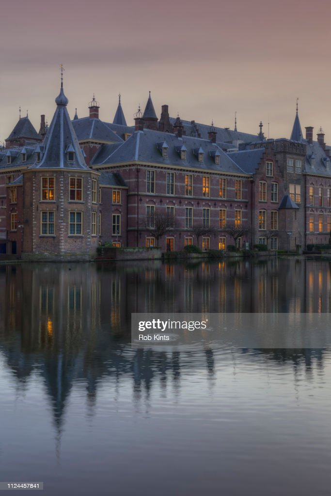 Binnenhof (Parliament buildings) with on the left 'Het Torentje' (Little Tower) the office of the Prime-Minister : Stock Photo