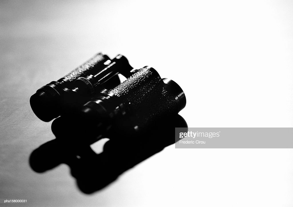 Binoculars, b&w. : Stockfoto