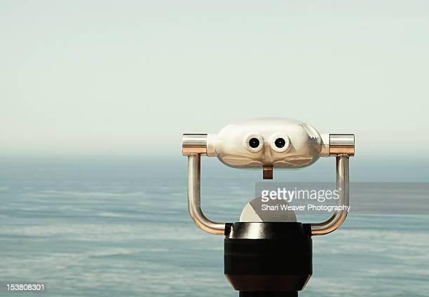 Binoculars by ocean