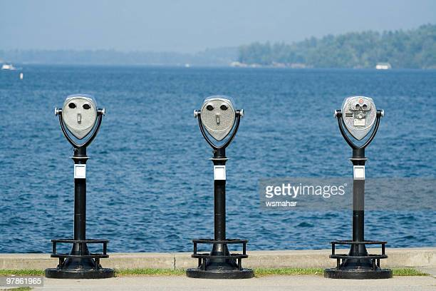 binoculars - lake george new york stock pictures, royalty-free photos & images
