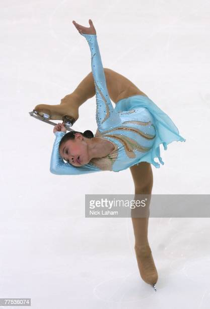 Binshu Xu of China competes in the ladies short program of 2007 Skate America at the Sovereign Center October 27, 2007 in Reading, Pennsylvania.