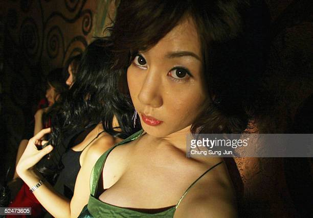Binu a member of South Korea's first transgender group 'Lady' patricipates in the making of their music video on March 24 2005 in Seoul South Korea...