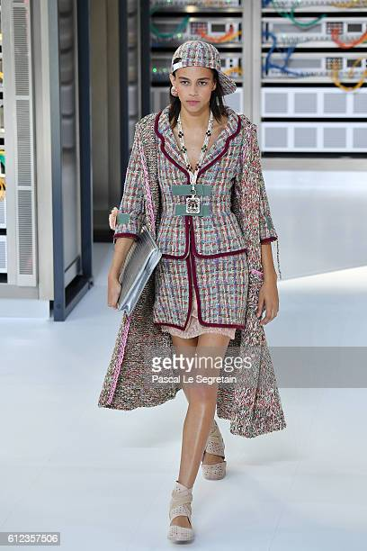 Binx Walton walks the runway during the Chanel show as part of the Paris Fashion Week Womenswear Spring/Summer 2017 on October 4 2016 in Paris France