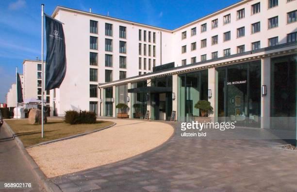 Binz -Prora , Insel Rügen, Restaurierte, historische Gebäude vom ehemaligen KdF- Bad Neubau, Neue Innengestaltung und Nutzung, Das Bauwerk aus den...