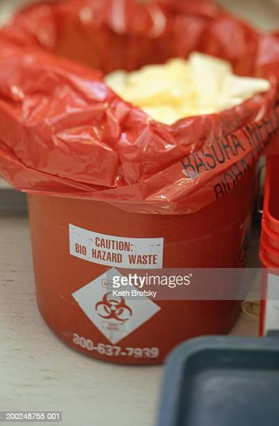 Bio hazard waste bin