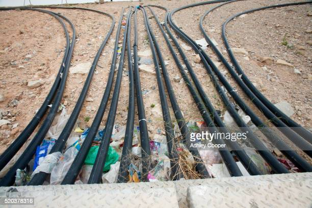 Bio Methane being captured from a landfill site in Alicante, Costa Blanca, Murcia, Spain.