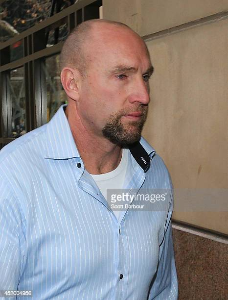 Biochemist Shane Charter attends Melbourne Magistrates Court on July 11, 2014 in Melbourne, Australia. Charter, who is one of ASADA's main witnesses...