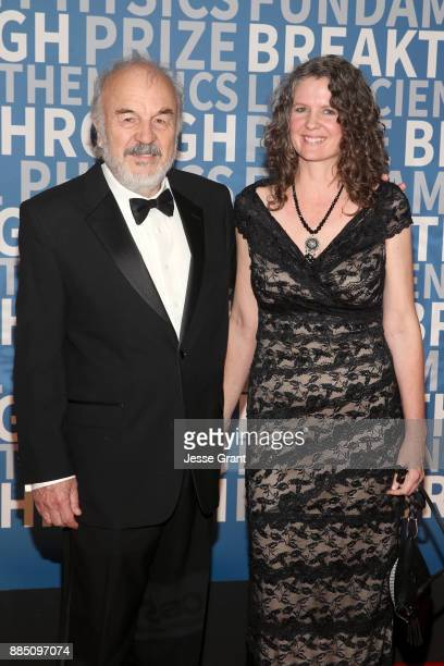 Biochemists Harry F Noller and Laura Lancaster attend the 2018 Breakthrough Prize at NASA Ames Research Center on December 3 2017 in Mountain View...