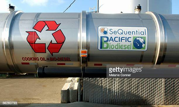 A biodiesel tanker truck delivers used vegetable oil from restaurants as far away as Idaho to a facility where it will be converted into biodiesel a...