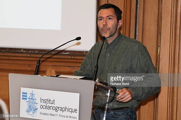 Biodiversity Research Foundation C.E.O. Xavier Le Roux speaks during the 'The Deep Seas, Challenges And Opportunities' Conference at Institut...