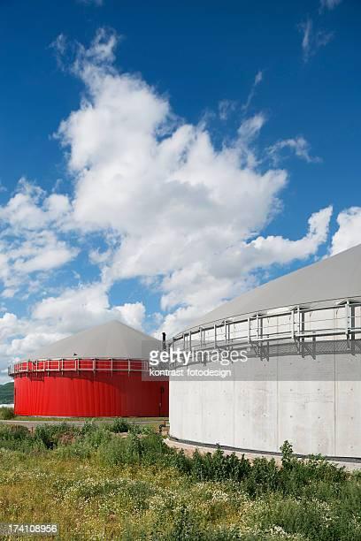 エネルギー Bioenergie 、バイオガス工場(ドイツ)。