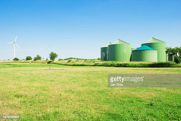 Biogas and windenergy
