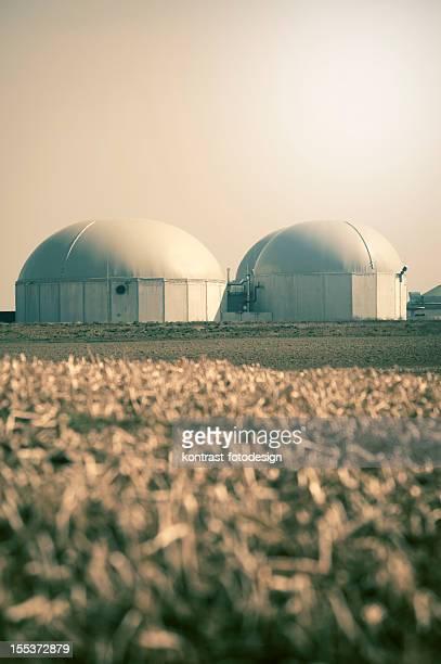 Biogas fahren Energie plant, Deutschland.