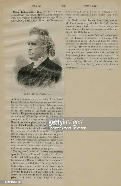 Biographical dictionary entry for American clergyman, theologian and writer, the Reverend Rollin Heber Neale , circa 1870. From 1837 to 1877, he was...