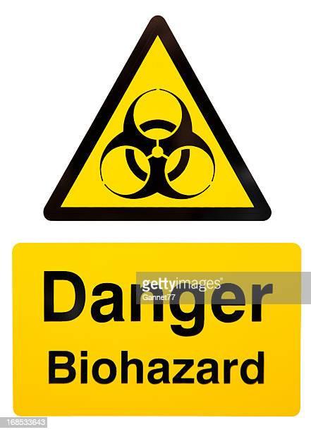 biohazard warning sign - biohazard symbol stock pictures, royalty-free photos & images