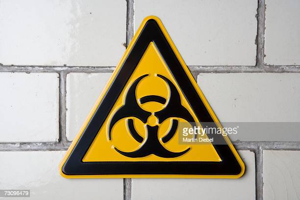 biohazard warning sign - toxic waste stock pictures, royalty-free photos & images