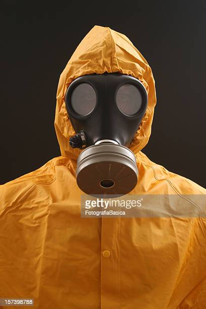 biohazardous portrait - gas mask stock pictures, royalty-free photos & images
