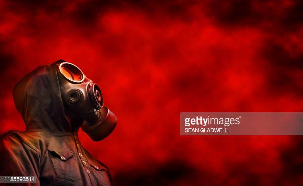 biological warfare - gas mask stock pictures, royalty-free photos & images
