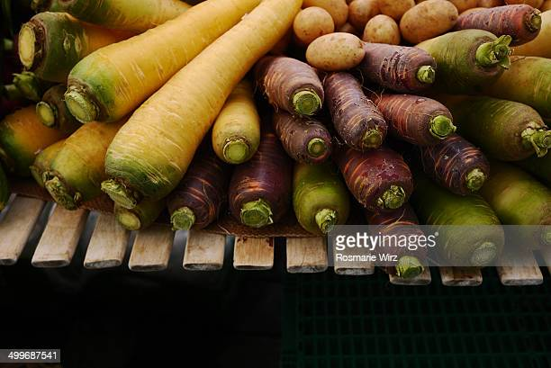 Biologically grown carrots