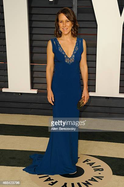 Biologist Anne Wojcicki attends the 2015 Vanity Fair Oscar Party hosted by Graydon Carter at Wallis Annenberg Center for the Performing Arts on...