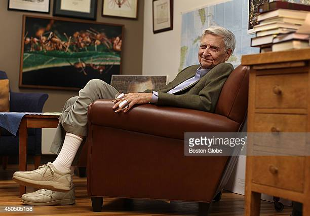 Biologist naturalist and writer EO Wilson in his Harvard office in the Museum of Comparative Zoology