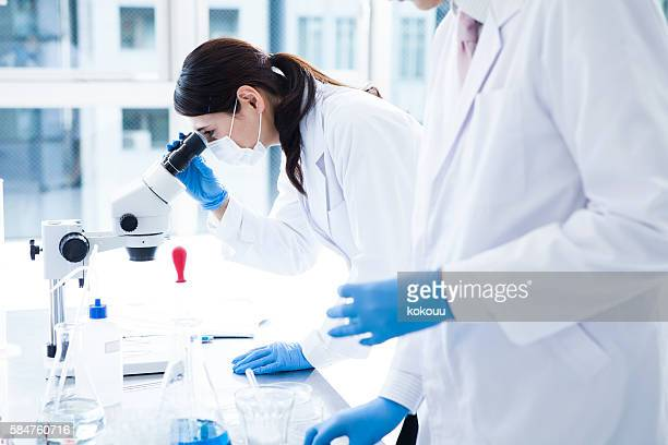 Biologist Working in a Professional Laboratory.