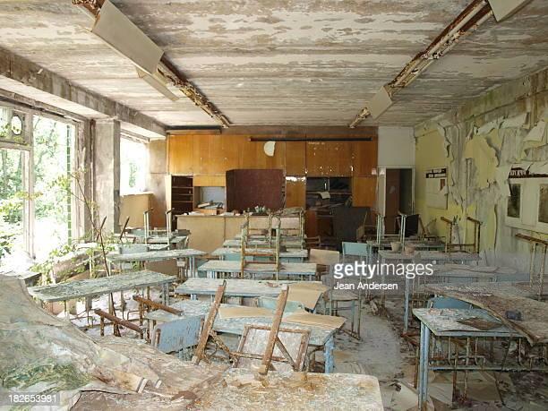 Biology classroom in the abandon High School No.2