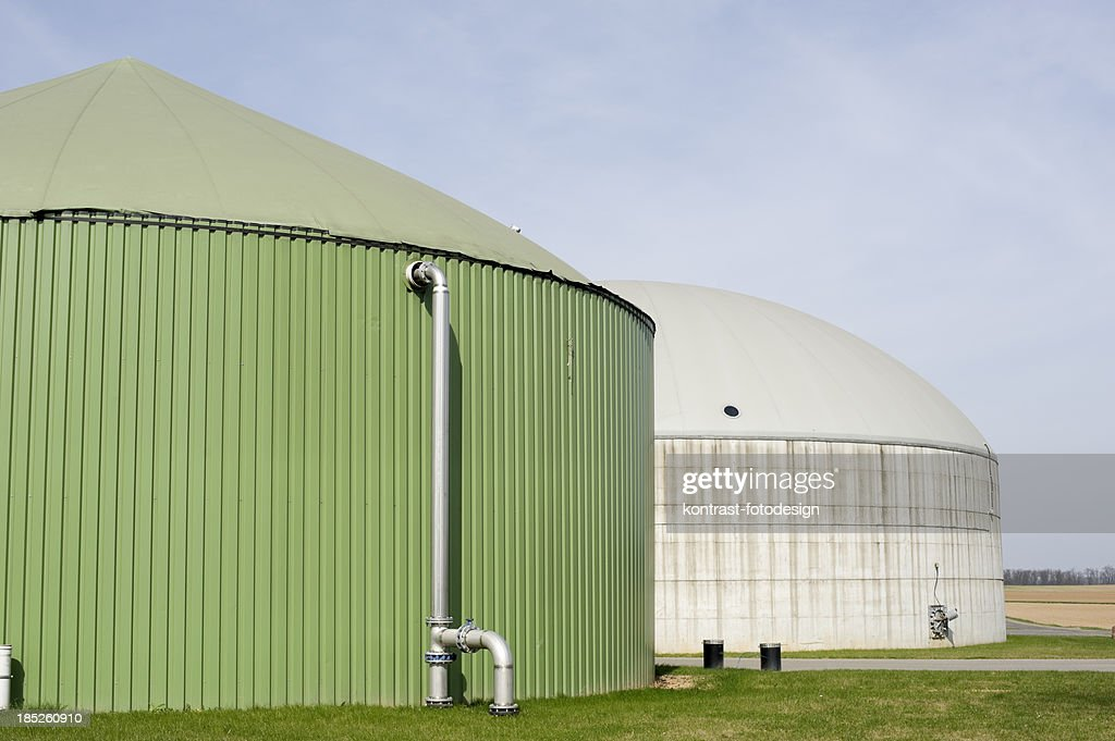Biomass energy plant, Germany. : Stock Photo