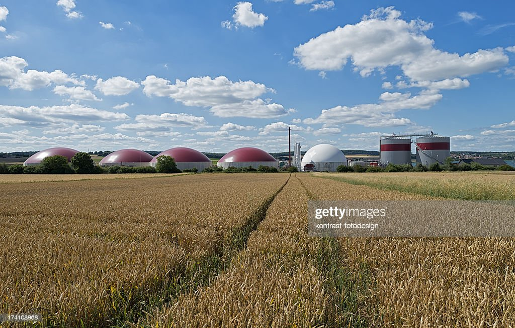 Biomass Energy Plant In A Rural Landscape Stock Photo