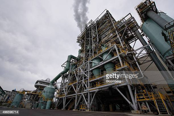 A biomass power plant operated by Showa Shell Sekiyu KK stands in Kawasaki City Kanagawa Prefecture Japan on Monday Nov 9 2015 The plant uses wood...