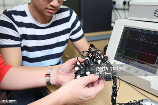 biomedical engineer teaching undergraduate