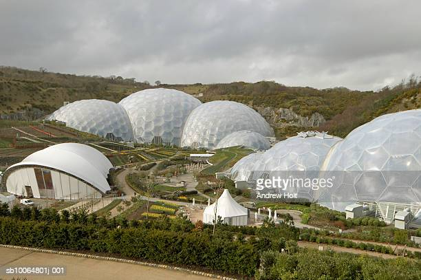 Biomes at Eden Project, elevated view