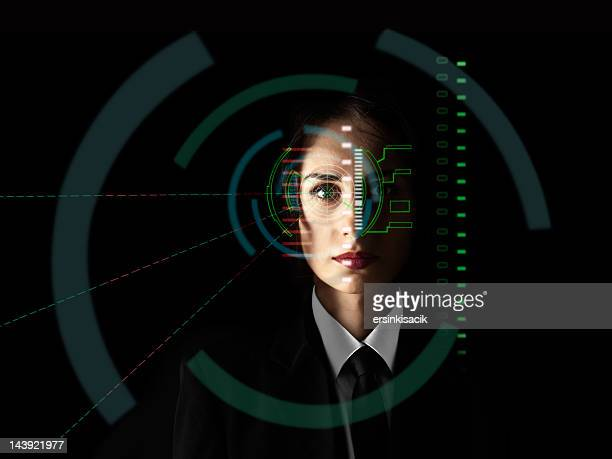 Biometric eye scanning interface