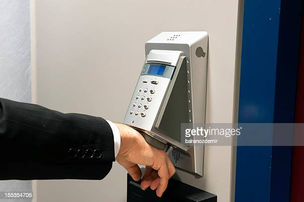 Biometric hand scanning for security