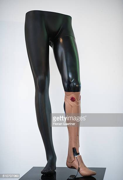 A bionic prosthetic is shown at the University of Applied Sciences for Engineering and Economics on February 15 2016 in Berlin