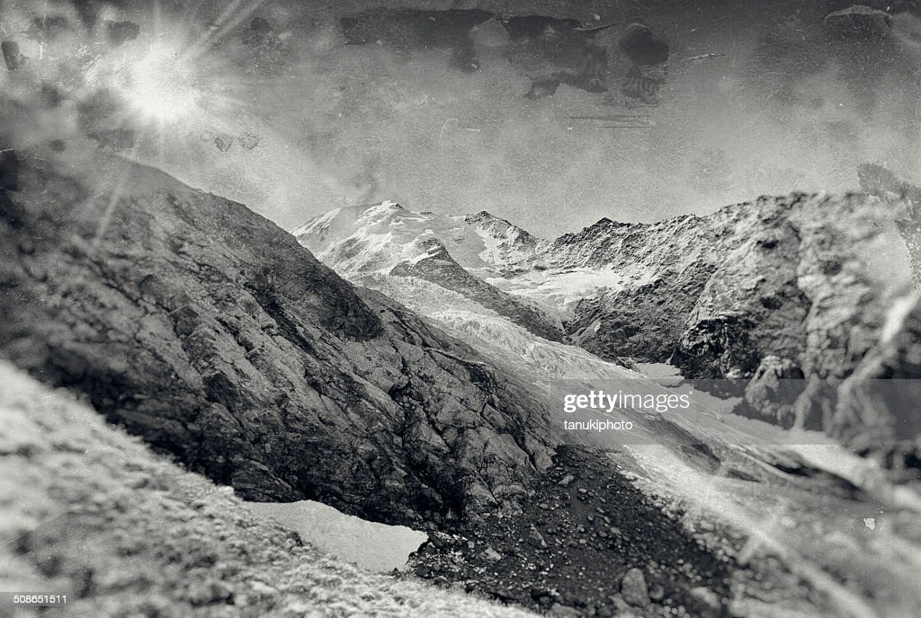 Bionnassay Glacier : Stock Photo